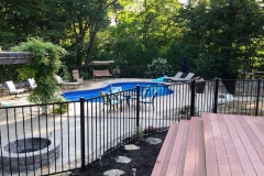 4' Bedrock Black Aluminum Fence