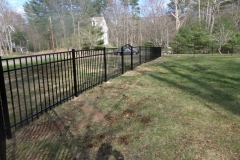 4' Granite Stile Black Aluminum Fence Arched Gate