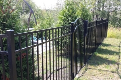 4.5' Pool Code Granite Style Black Aluminum Fence