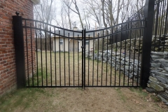 5' Double Drive Scallop Pool Code Amethust Style Haven Series Black Aluminum Fence