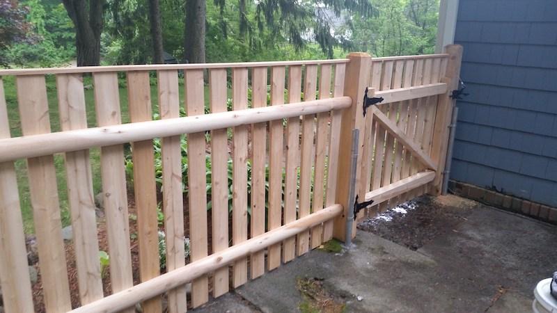4' Cedar Spaced Board Wood Fence With Cap Strip