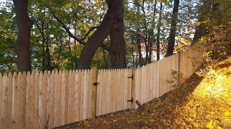 4' Cedar Stockade Fence