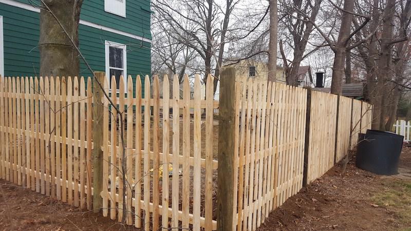 5' Cedar Spaced Picket Wood Fence