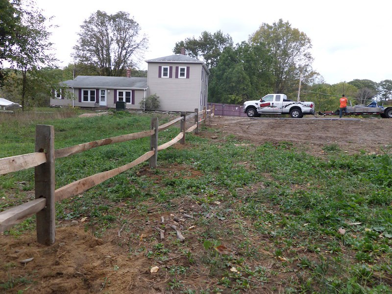 Cedar 2 Rail Split Rail Wood Fence