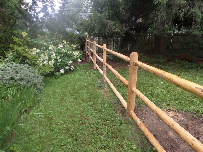 Cedar 3 Rail Post Rail Fence