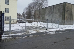 6' Galvanized Chain Link Fence With Slide Gate and Barbed Wire