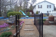 Pool Code Black Chain Link Fence