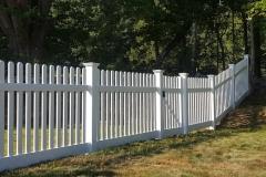 4' Silverbell White Vinyl Fence