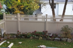 6' Moonstone Sand Color Vinyl Fence