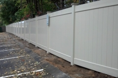 Sand Color Dogwood Home Series Vinyl Fence